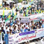 Demo In Bhimber Against Indian Atrocities In IOK