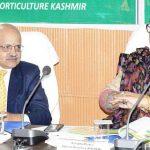 CS for speeding up fruit procurement in Kashmir