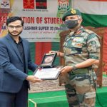 GOC Chinar Corps felicitates Super 30 students who cleared NEET in Kashmir